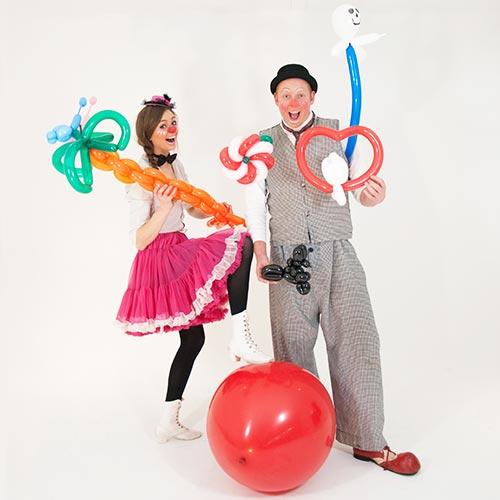 clown inhuren huren ballonnenclown