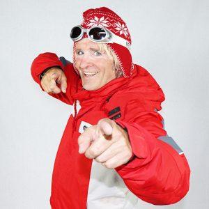 ski leraar typetje apres ski