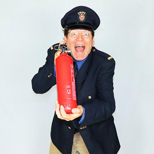 Brandweer commandant Fik typetje