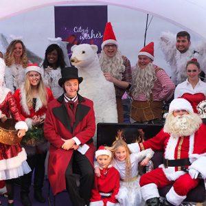 Kerstparade compleet kerstman kerst entertainment