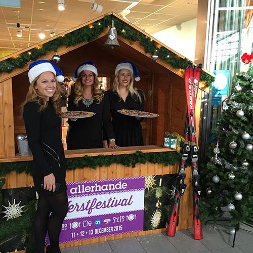 Kerst uitdeelactie kerstmarkt huren kersthuisje