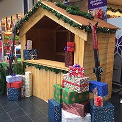 winkelcentrum entertainment kersthuisje kerstkraam huren