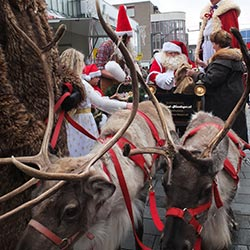 Beleving winkelcentrumpromotie tijdens kerst