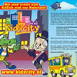 Drukwerk 128 entertainment KidZcity Utrecht
