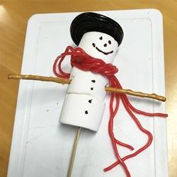 Knutselen sneeuwpop knutselactiviteit