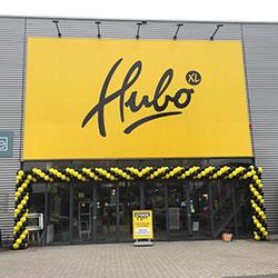 Openingsactie feestelijke opening Hubo vestiging