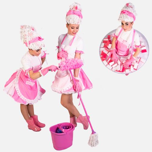 Schoonmaak Duo Pink Hostesses promotieteam