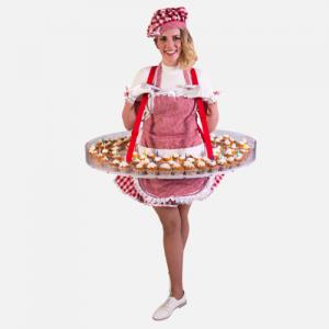 Cupcakes uitdelen Kok Dame Hostess