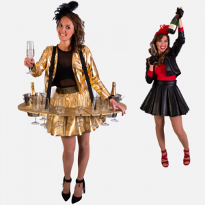 Champagne dames Hostesses promotieteam