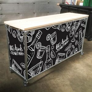 Branded Bar Side table Catering